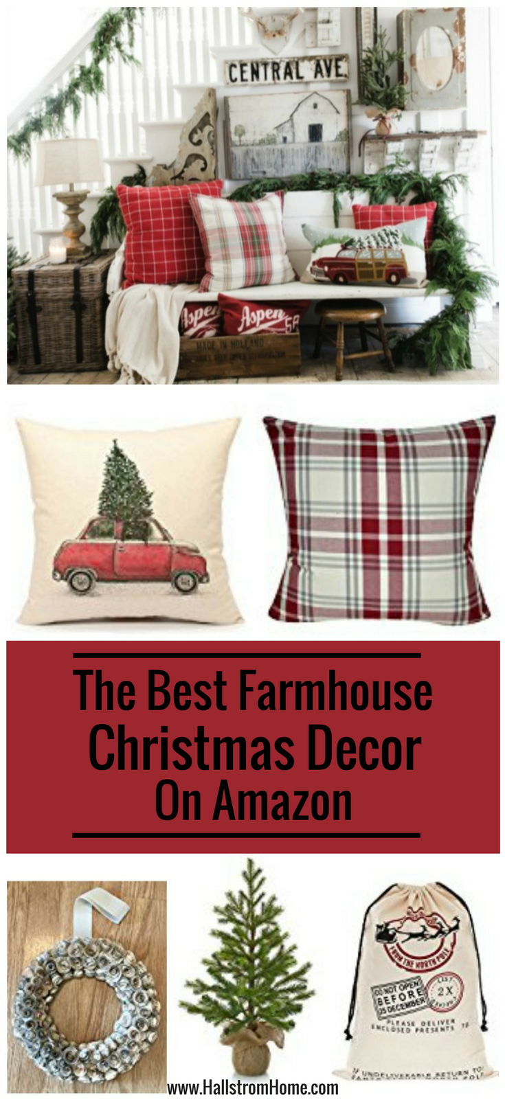 The Best Christmas Farmhouse Decor On Amazon Hallstrom Home