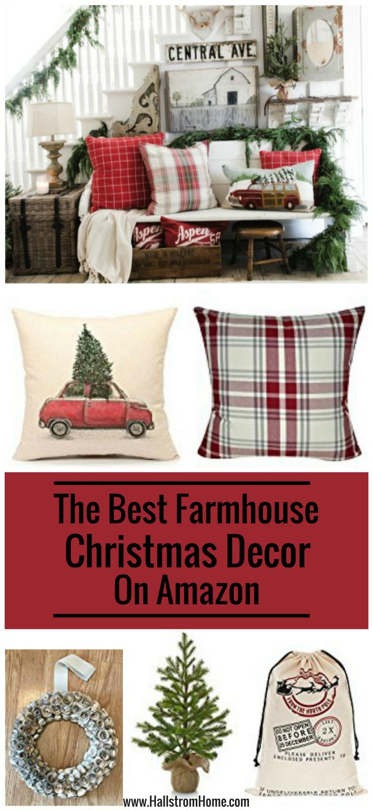 The best christmas farmhouse decor on amazon hallstrom home for Best home decor on amazon