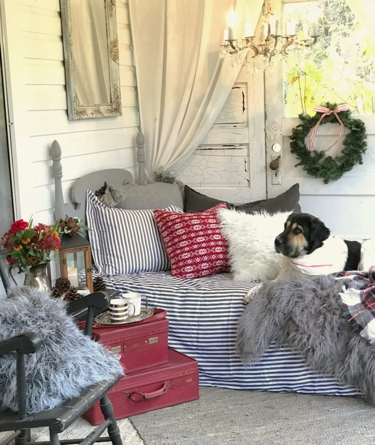 Our Modern Farmhouse Christmas Porch