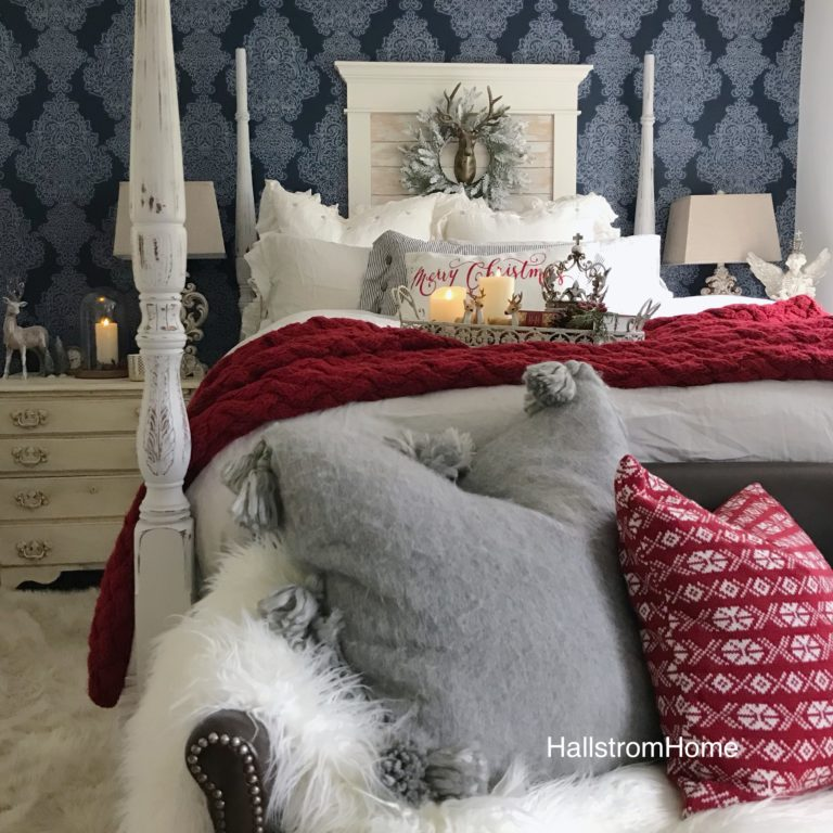 Cozy Christmas Farmhouse Bedroom Tour