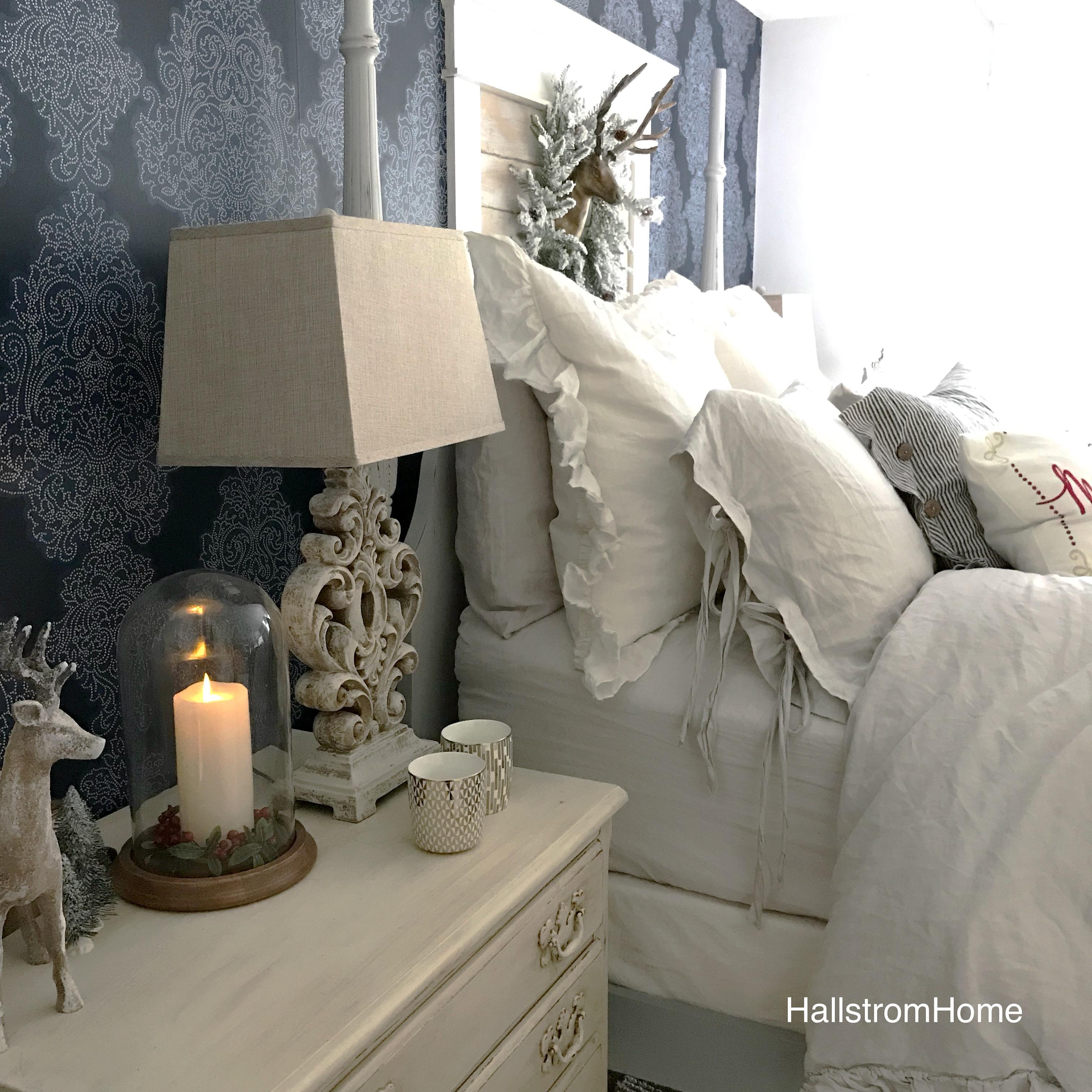 Cozy Christmas Farmhouse Bedroom Tour