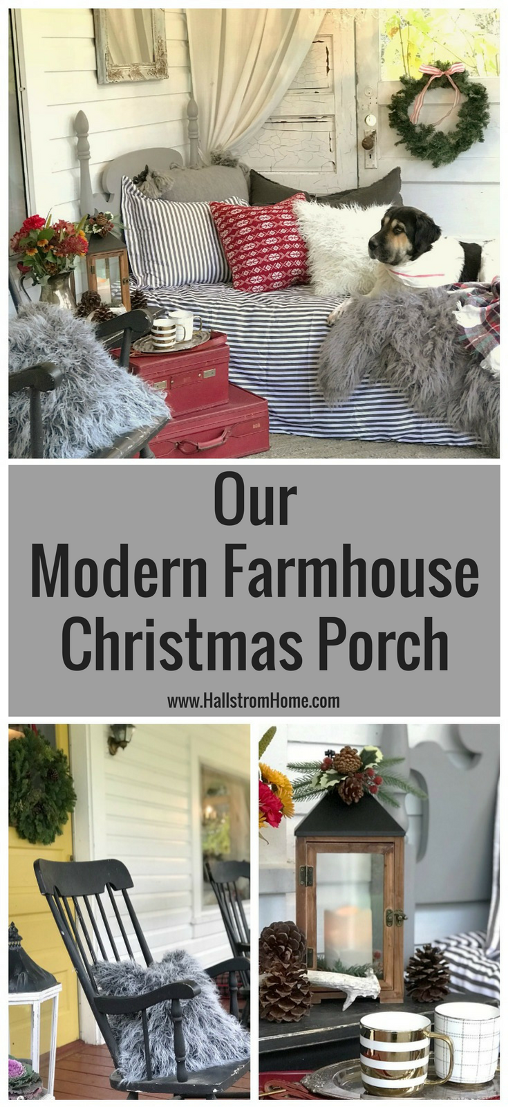 Our Modern Farmhouse Christmas Porch Hallstrom Home