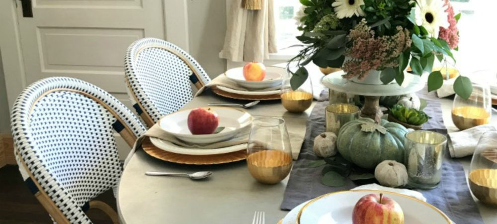 Our Thanksgiving Table with Our Favorite Stuffing