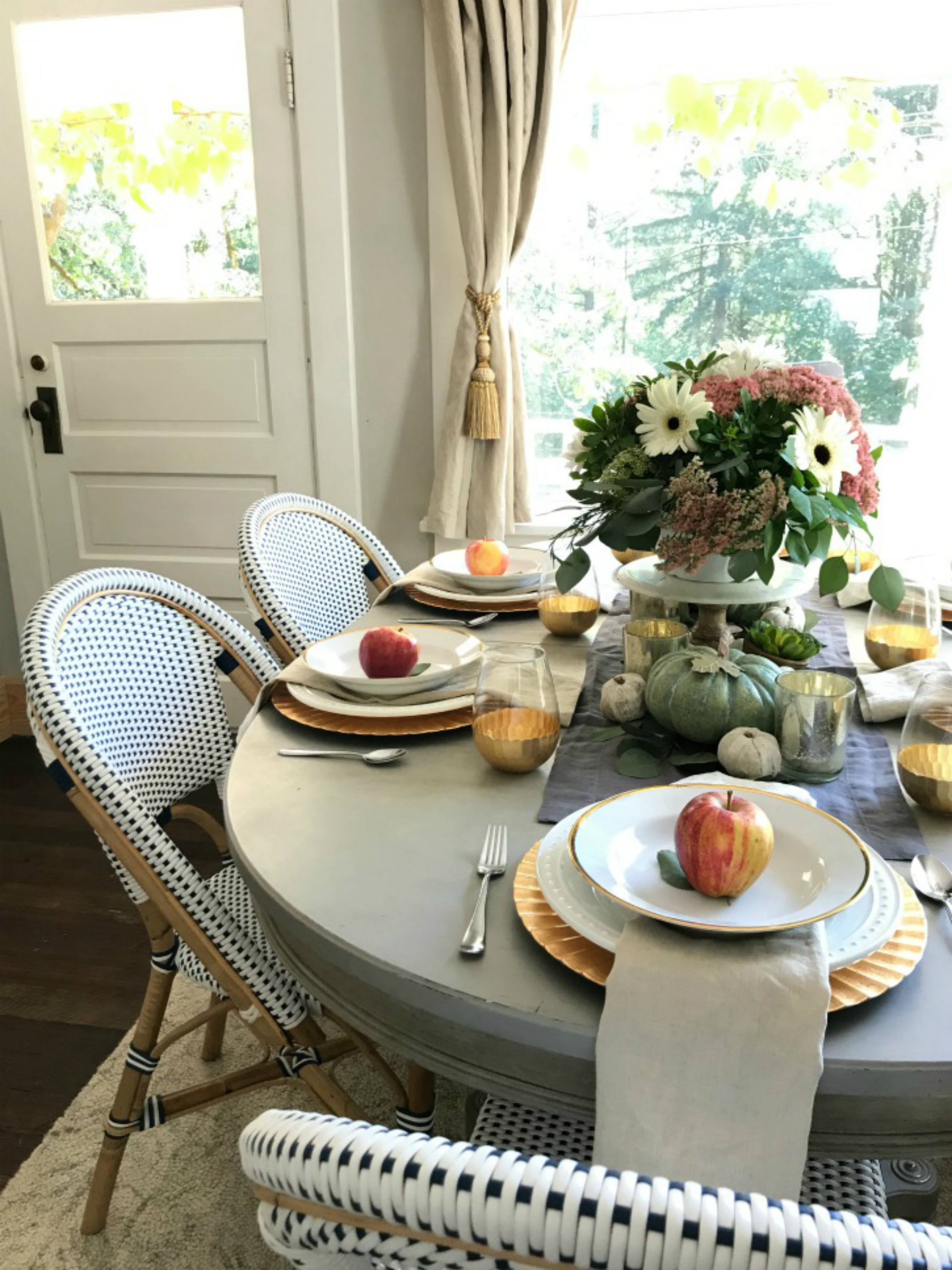 Our Thanksgiving Table with are Favorite Stuffing