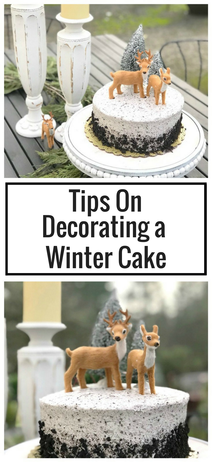 How to Decorate a Store Bought Cake for a Winter Birthday