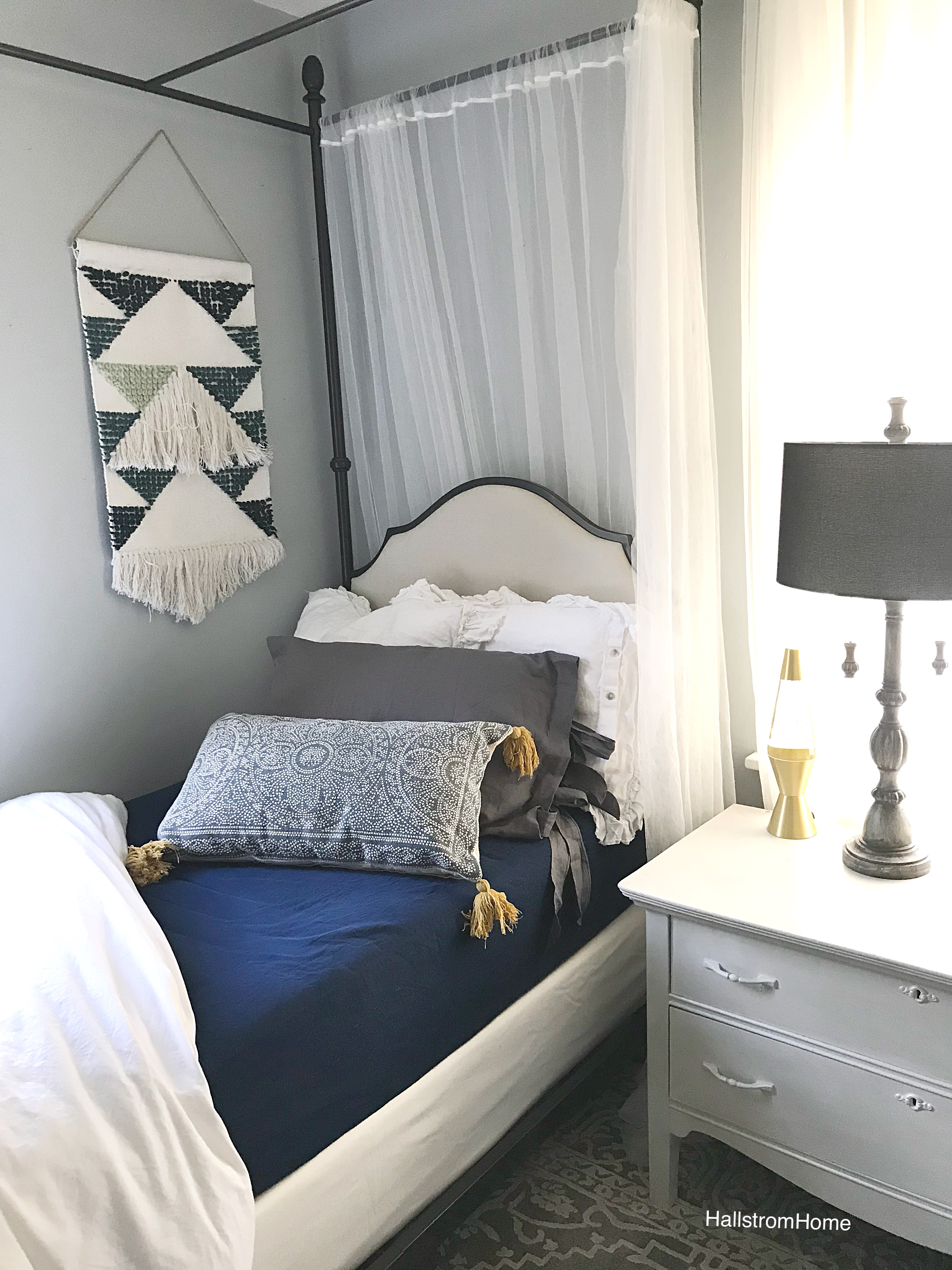 New Bedroom Look For The New Year|bedroom update|bedroom reveal|simple bedroom decorating ideas|simple bedroom|bed canopy|girls bedroom reveal|new year update|farmhouse bedroom|white farmhouse|shabby chic|shabby chic farmhouse|kids bedroom|kids bedroom update|how to update girls bedroom|hallstrom home