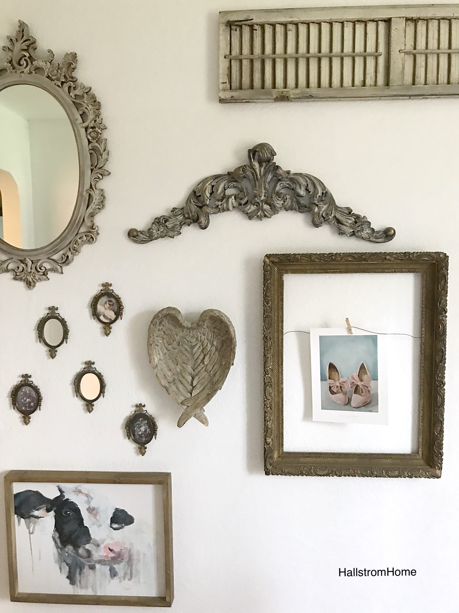 Shabby Chic Farmhouse Gallery Wall