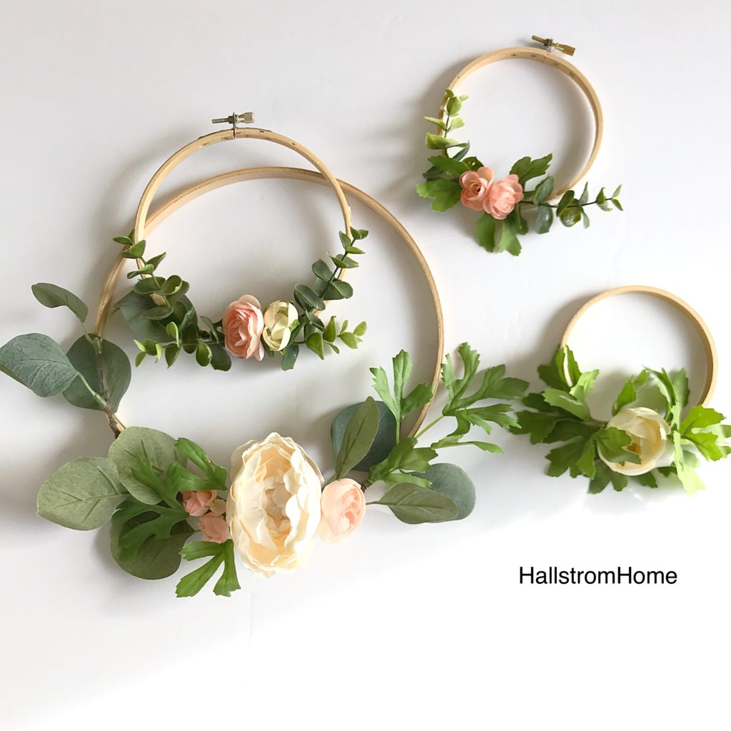 Making Hoop Wreaths For Spring Hallstrom Home