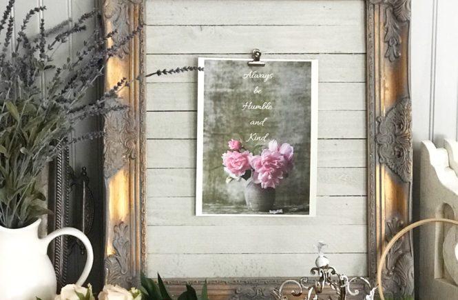 Framed Farmhouse Wall Printable Idea