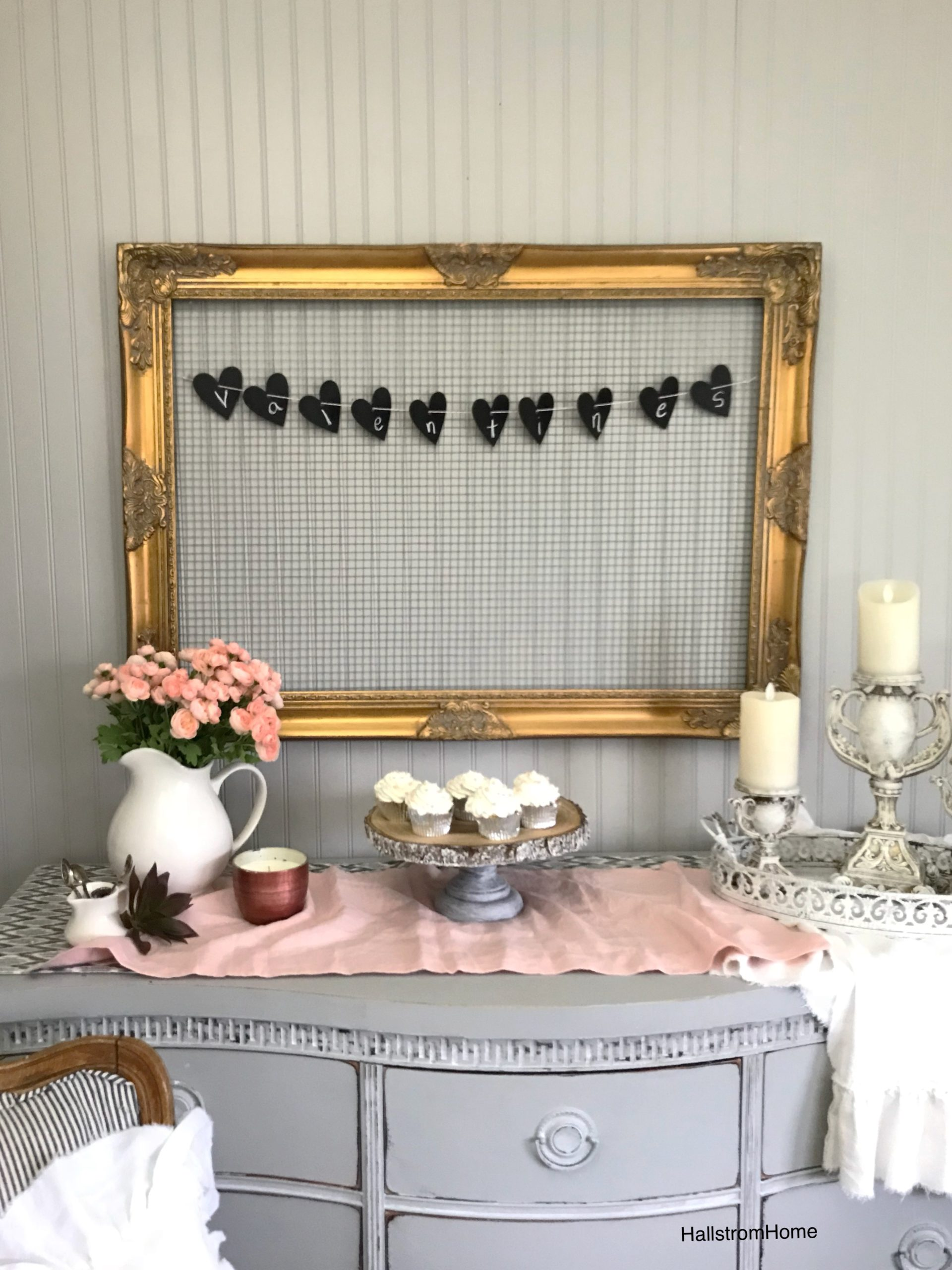 Sweet and Easy Valentines Party Decor with Heart Banner
