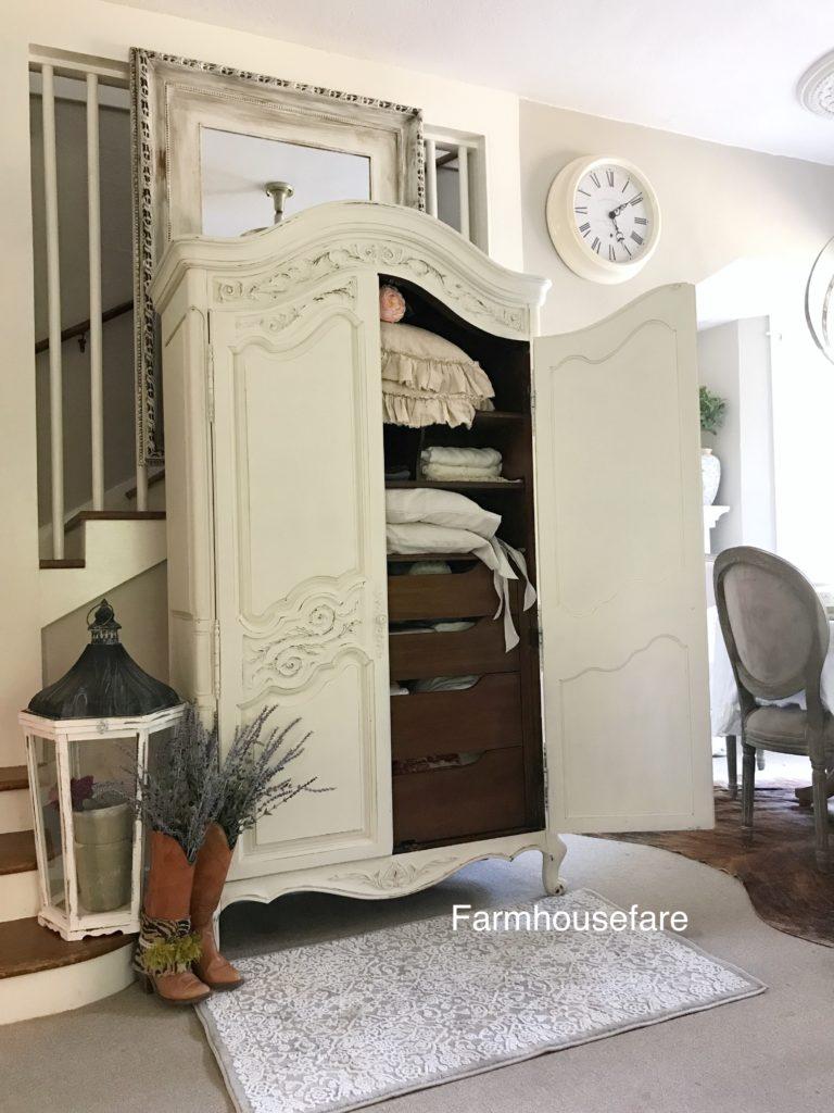 white armoir