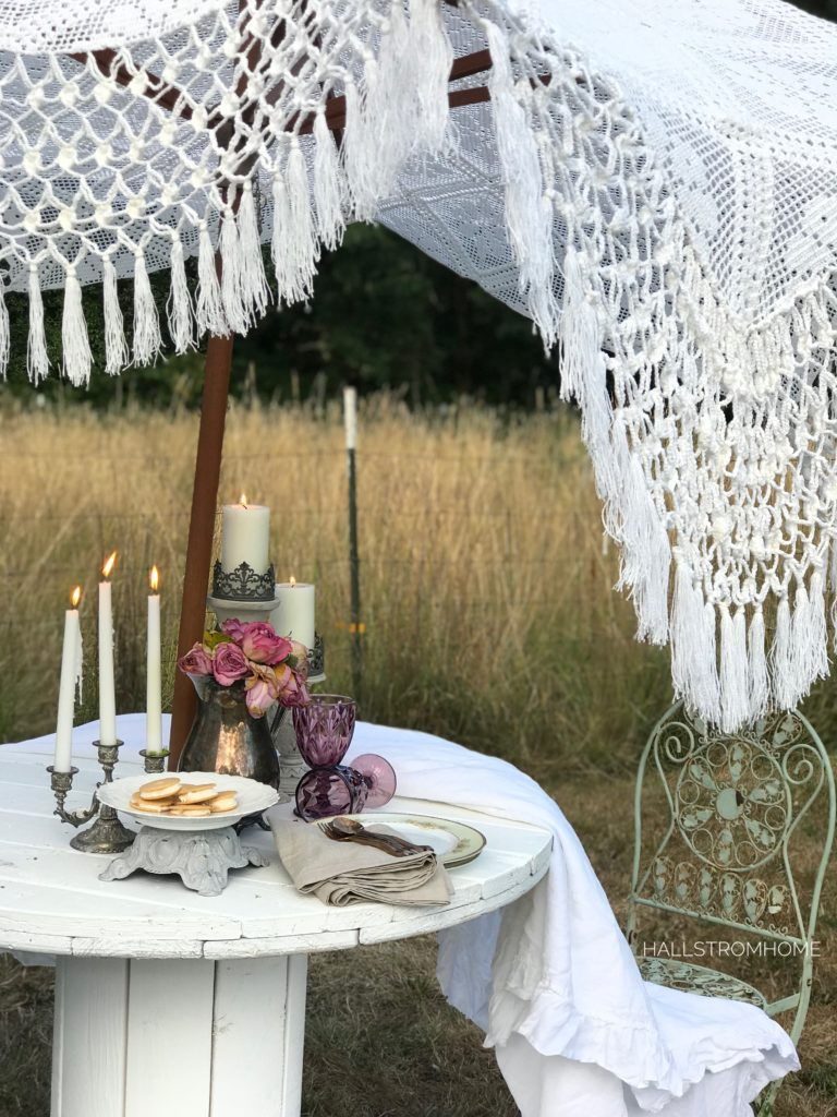 How to Make a Boho Chic Lace Umbrella