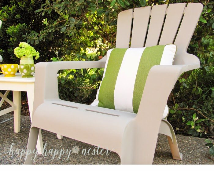 chalk painted outdoor chari