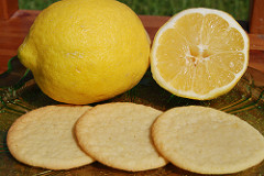 3 lemon cookies by 2 lemons