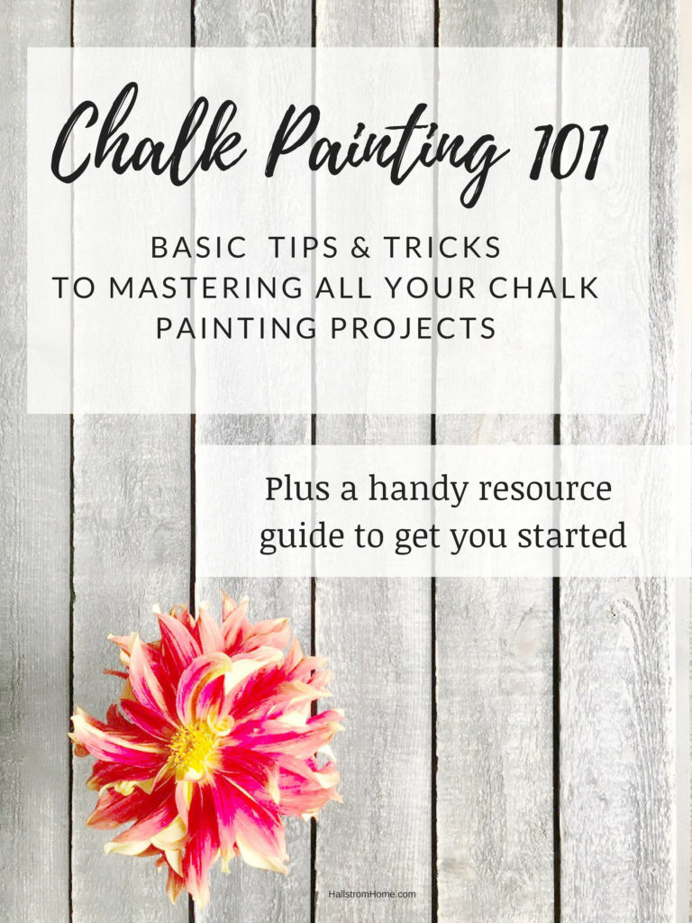 Chalk Painting 101 for beginners Learn how to master chalk painting, furniture, floors and home accents with this easy painting guide / Painting Class/ Painting guide/ easy chalk painting tips