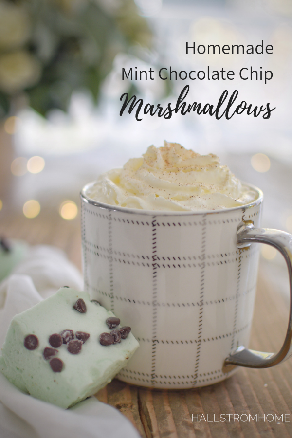 Homemade Marshmallows/Mint Chocolate Chip|mint marshmallow recipe|mint chocolate chip|mint chocolate marshmallow recipe| mint chocolate chip marshmallows|marshmallow recipe|Christmas recipes|Holiday recipes|marshmallow recipe mint|kids recipes|recipes for kids|gift recipes|christmas recipe gifts|unique edible gifts|homemade edible gifts|hallstromhome