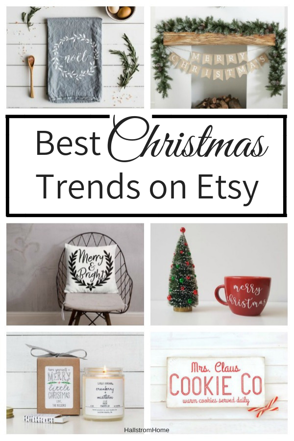 Etsy Shopping Guide for Christmas Shopping|etsy christmas decor|etsy vintage christmas|christmas decorations|farmhouse christmas|farmhouse home decor|christmas decorating|etsy finds|best etsy finds|HallstromHome