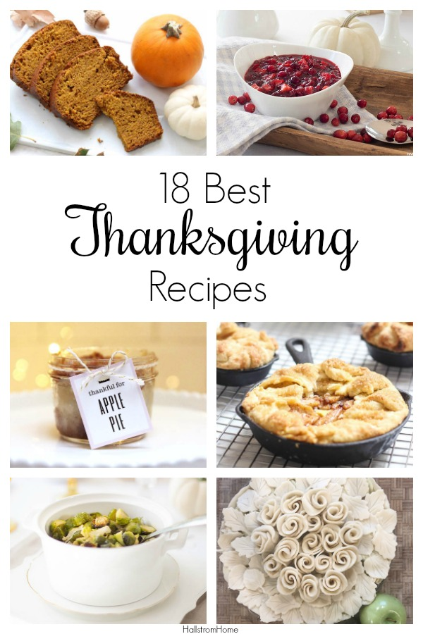 18 Thanksgiving Recipes You Need to Try|best Thanksgiving recipes|easy Thanksgiving recipes|easy Thanksgiving side dishes|Thanksgiving side dishes|Thanksgiving recipe ideas|kids recipes|Thanksgiving appetizers|fall recipes|recipes for kids|hallstromhome