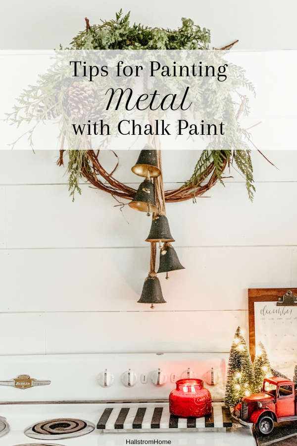 Painting Over Metal with Chalk Paint #chalkpaint#howtochalkpaint#chalkpaintingtips#chalkpaintingmetal#howtochalkpaintmetal#chalkpaintingrustedmetal#diy#paintingtutorial#paintingtips#chalkpaintingbook#howtogetstartedchalkpainting#furnitureupdate#refinishingfurniture#hallstromhome