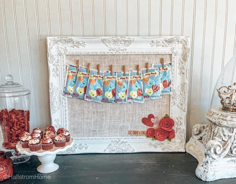 Fabric Covered Bulletin Board-Fast & Easy DIY diy framed cork board diy washi tape tutorial washi tape crafts 3 ingredients crafts how to make a pin board with cork board diy crafts kids crafts easy diy crafts crafts for kids felt flowers banner cork board fabric bulletin board bulletin board with banner valentines party valentines decor holiday decor hallstrom home