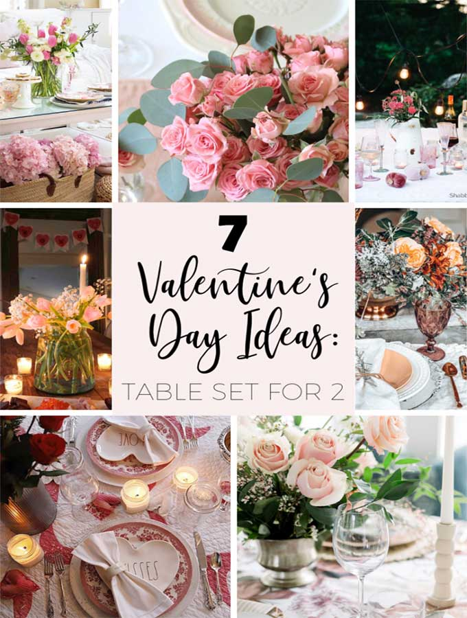 Valentines Table for Two-Romantic Setting|Valentines day|romantic dinner table set up|romantic table setting for two|romantic table setting arrangement|Valentines day decor|valentines dinner at home|tablescape|romantic table scape|free printable|printable gift tag|farmhouse decor|valentines printable|hallstromhome