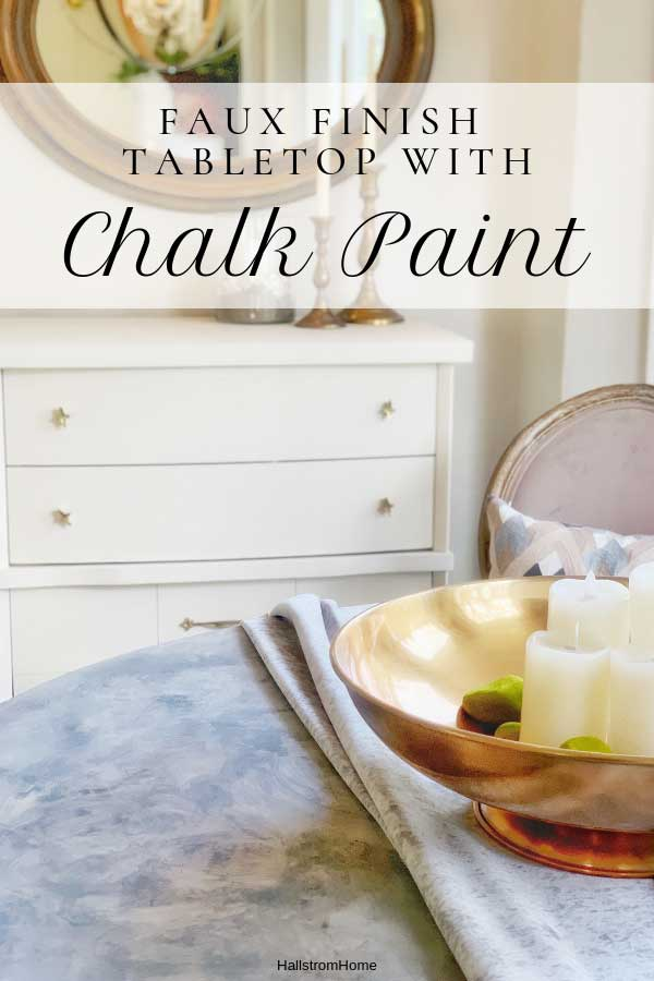 Faux Marble Chalk Painted Table Top Tutorial|faux marble tabletop diy|chalk paint marble effect|faux marble countertop|faux marble paint|faux marble paint tutorial|faux marble floor|hot to paint faux marble|how to paint faux marble countertop|faux marble paint diy|how to paint faux marble|chalk paint faux marble|chalk paint|chalk paint tips|chalk paint diy|hallstrom Home