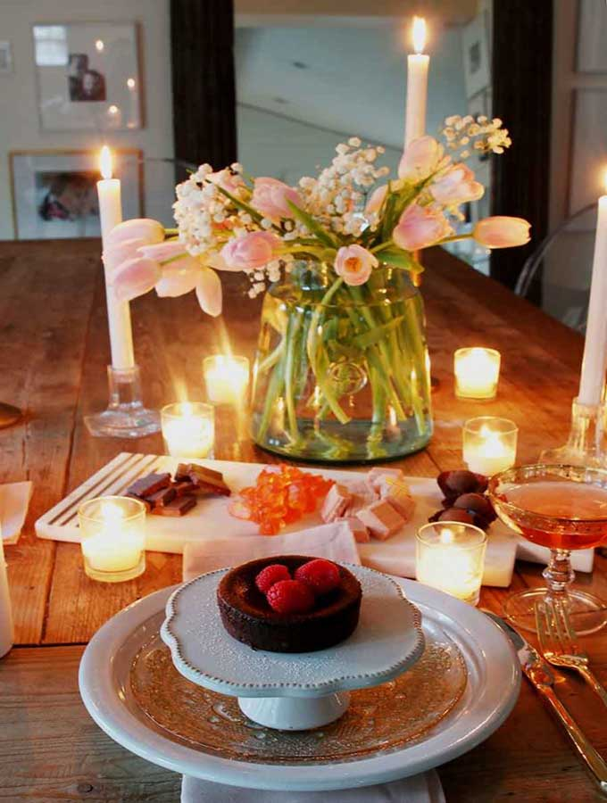 Valentines Table For Two Romantic Setting Hallstrom Home