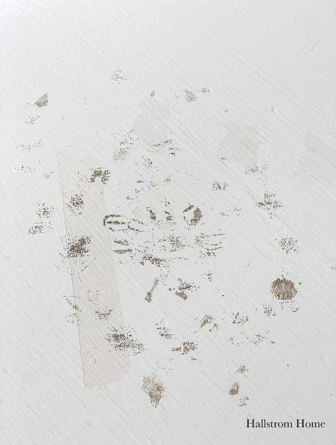 Stencil Tea Towel Tutorial with Chalk Paint stenciled tea towel Vintage kitchen tea towels painted dish towels decorating tea towels how to stencil a tea towel farmhouse diy diy craft kids craft french cottage french bee stencil home decor shabby chic hallstrom home