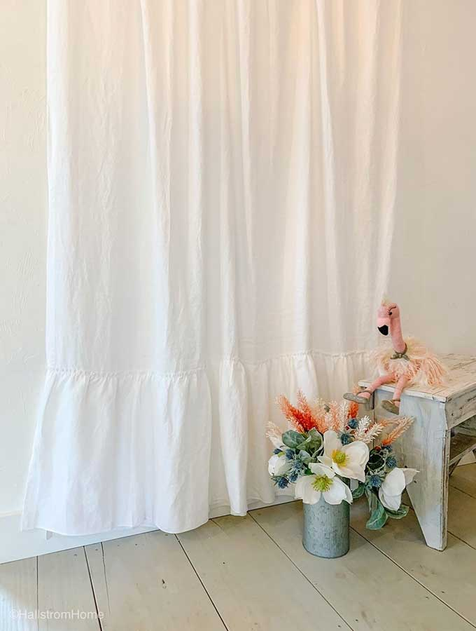 Shabby Chic Linens|shabby chic bedding|romantic bedding|ruffle linens|bathroom linens|bedroom linens|table linens|shabby chic linens|farmhouse decor|ruffle pillows|ruffled shower curtains|handmade linens|linen is best|how to care for linen|hallstromHome
