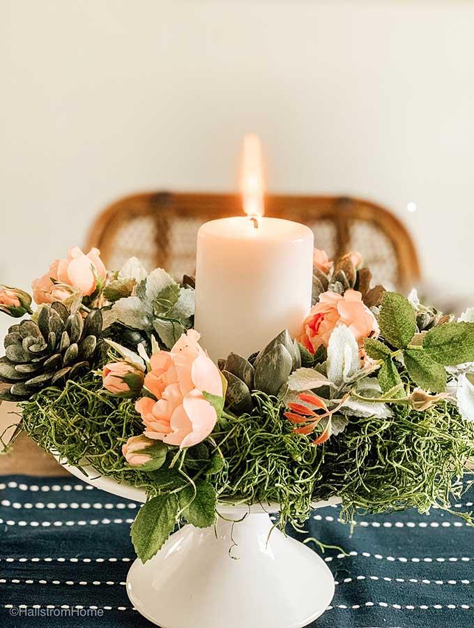Diy Faux Succulent Wreath Hallstrom Home