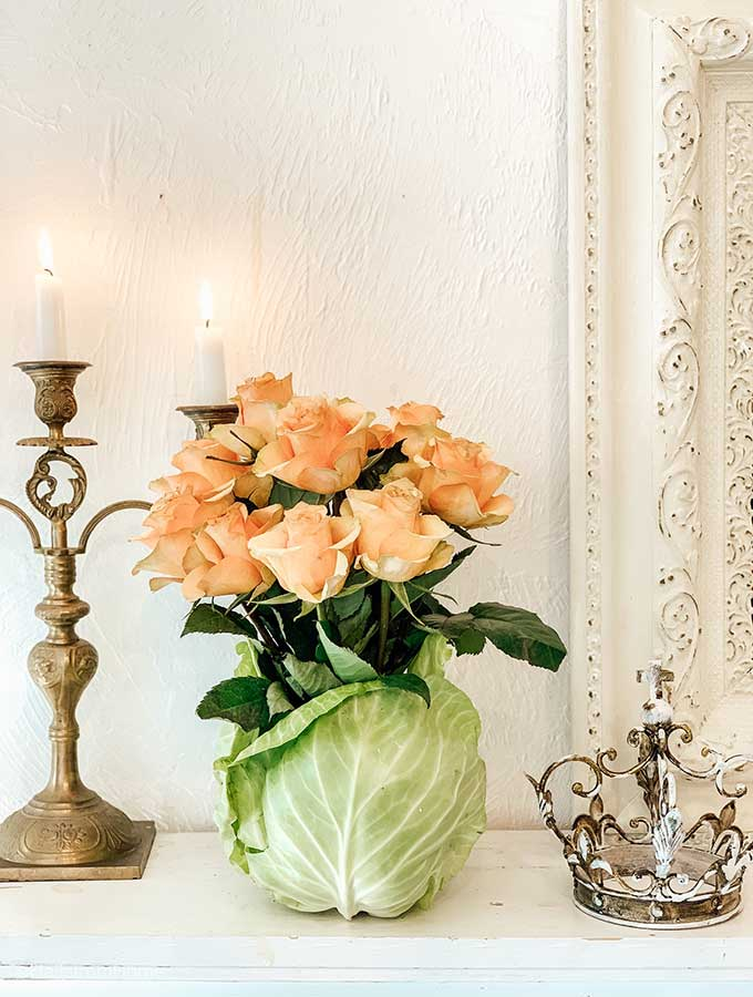 Diy Cabbage Flower Arrangement Hallstrom Home