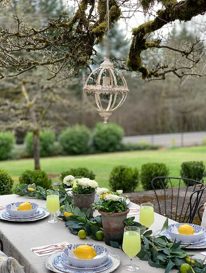Superb Spring Outdoor Table Ideas Hallstrom Home Home Interior And Landscaping Palasignezvosmurscom