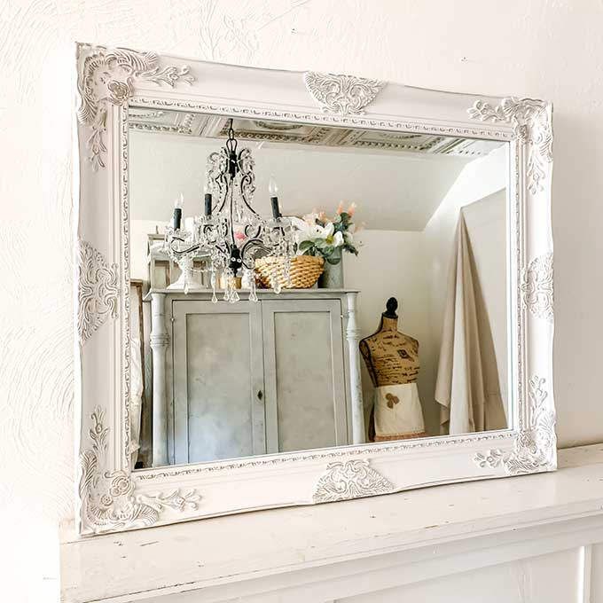 Beautifully Framed Bathroom Mirrors|vanity mirror|bathroom mirror|shabby chic|farmhouse|framed mirror|home decor|wall mirror|large mirror|Hallstrom Home