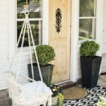 Hygge Porch Design with Swing|hygge life|hygge products|adding hygge|hygge chairs|hygge decor|simple porch designs|Scandinavian Porch|porch design ideas|boho porch|boho home|bohemian decor|Hallstrom Home