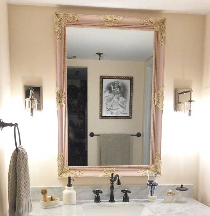 Beautifully Framed Bathroom Mirrors Hallstrom Home