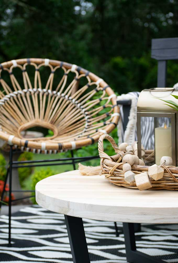 Sophisticated Bohemian Outdoor Setting|Article|Boho Patio|decorate bohemian|patio update|outdoor entertaining| myarticle|boho home decor|sophisticated boho|scandinavian home|boho outdoor furniture|bohemian furniture|boho chic patio ideas|boho outdoor spaces|bohemian outdoor rug|Hallstrom Home