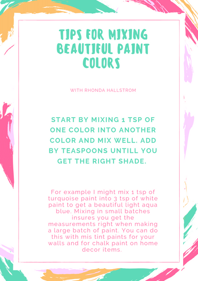 Chalk Painting for Beginners/ 7 things You Need to Know and how to mix chalk paint colors for furniture painting tips and DIY crafts