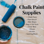 Chalk Paint Supplies you need to get started for your diy crafts/ Chalk paint guide/ chalk painting furniture/ fing up furniture/ recycled furniture/ painted furniture/ easy paint tips/ chalk painting 101/ chalk paint brands/ chalk paint supplies