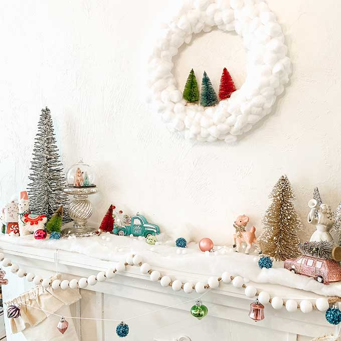 DIY Cotton Ball Wreath/ Easy Holiday Craft