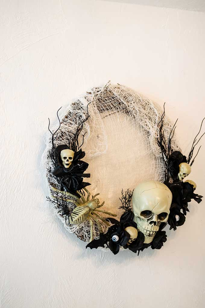 Creepy Halloween Wreath Tutorial