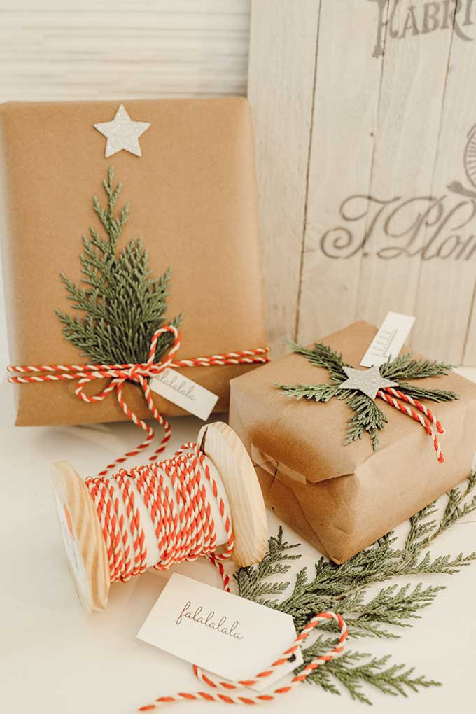Natural Holiday Gift Wrap With Greenery Hallstrom Home