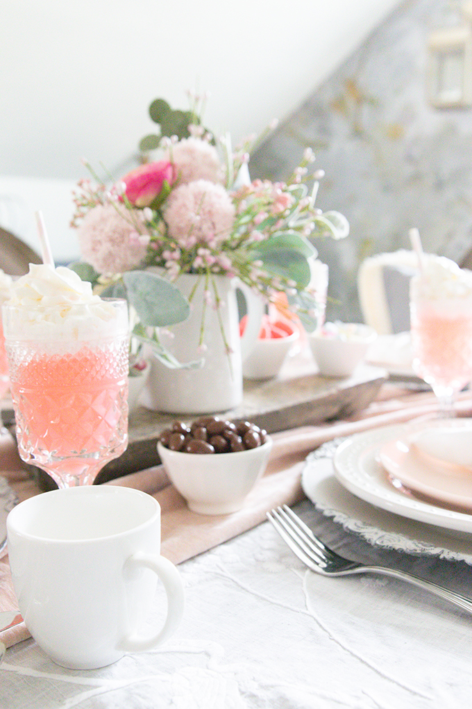 Valentine's Table Setting |Valentines Party|Romantic Valentines|Shabby Chic Decor|Pink Valentines|Valentines Table Setting|Romantic Valentines Table Setting|Pink Tablescape|Farmhouse Table Setting|Valentines Party Tablescape|French Farmhouse|Valentines Party|Romantic Table|Hallstrom Home