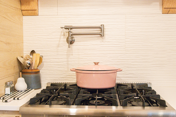 Farmhouse Kitchen Remodel with Pot Filler|Farmhouse Kitchen|kitchen Update|Kitchen Remodel|New Kitchen|modern kitchen|modern farmhouse|wood kitchen|white kitchen|pot filler|pot filler review|Elkay faucets|Farmhouse pot filler|farmhouse style|Hallstrom Home