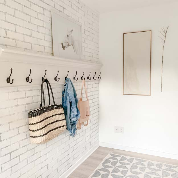 How to Create a Modern Farmhouse Mudroom  farmhouse decor modern farmhouse mudroom hooks mudroom coat rack farmhouse style modern farmhouse shabby chic Large modern coat rack  HallstromHome