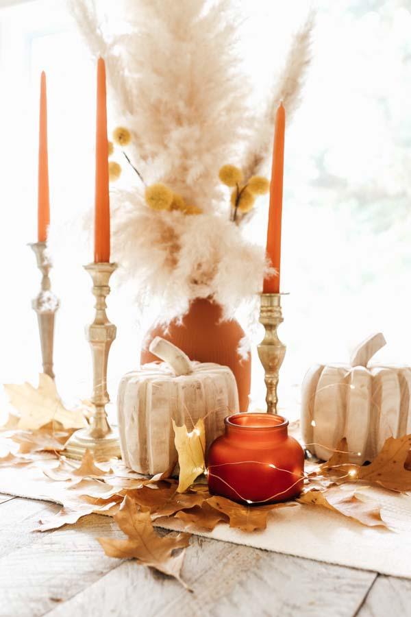 Baking Soda Texture Paint DIY |textured clay vase|terra cotta diy|textured paint diy|boho diy vase|fall tablescape|pampas grass tablescape|farmhouse decor|boho fall decor|Hallstrom Home