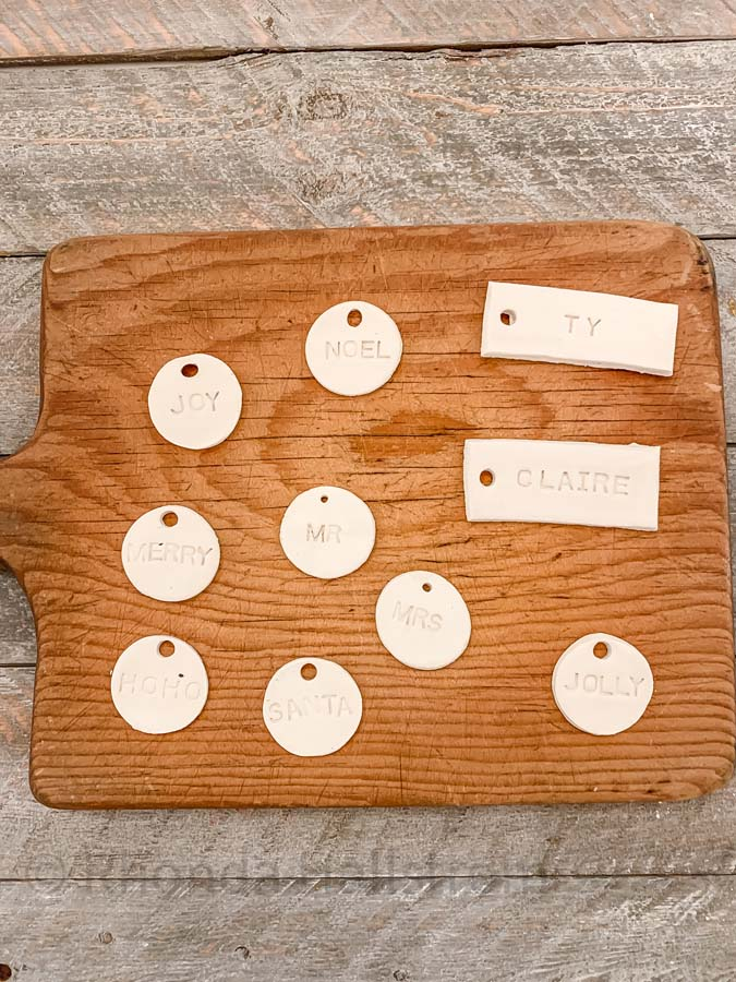 Tags Using Air Dry Clay  Clay Tags clay tags diy rustic clay tags air dry clay ideas clay gift tags air dry clay gift tags place setting tags clay name tags ceramic gift tags HallstromHome