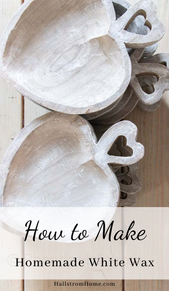How to Make Homemade White Wax |white wax|easy diy|chalk paint|chalk paint tutorial|white wax tutorial|painting|easy chalk paint|Paint instructions|homemade white wax|how to chalk paint|how to make white wax|applying chalk paint|home update|farmhouse decor|shabby chic|shabby chic style|HallstromHome