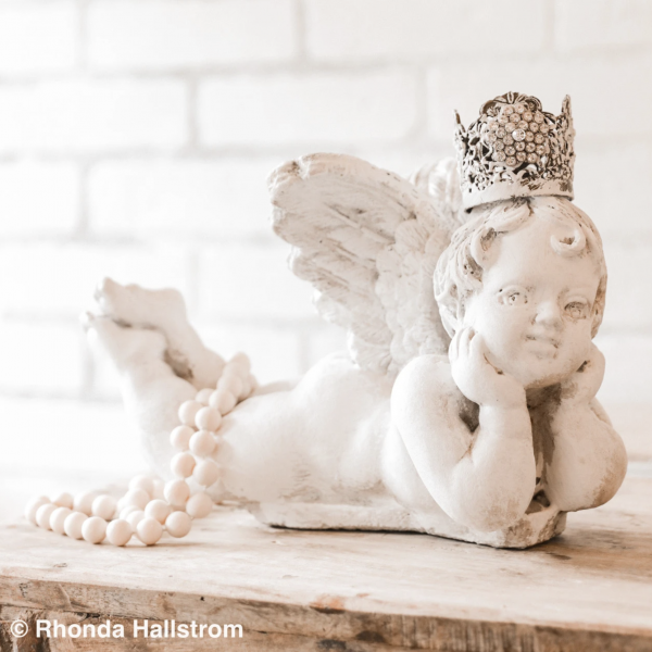 Couture decor by Hallstrom home |french decor|french angel|angel statue|farmhouse style|farmhouse decor