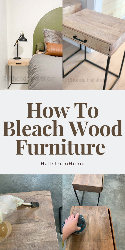 How to Bleach Wood Furniture / easy bleaching tips and tricks / wood bleach preparation / bleaching wood tutorial / step by step wood bleaching / how to sand wood furniture / hygge style wood / Scandinavian home decor / before and after / modern farmhouse / how to prepare bleaching wood furniture / wood tables / metal tables / simple diy home decor / wood furniture tutorial / HallstromHome