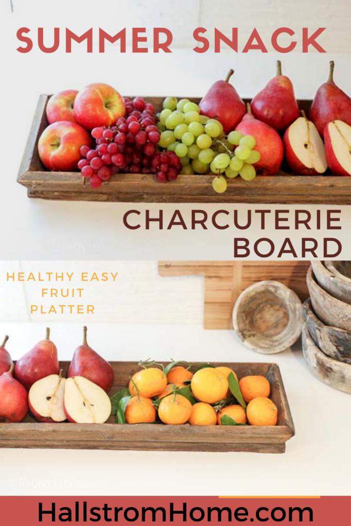 Summer Snack Charcuterie Board / Easy summer snacks / fun fruit platter / Charcuterie board for parties / healthy summer snacks / family night snacks / HallstromHome